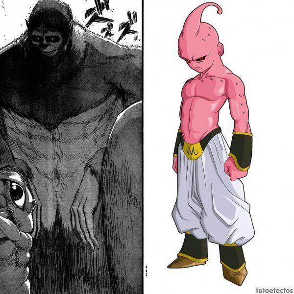 Titán bestia vs Buu original