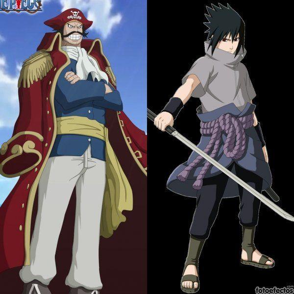 Gold D Roger vs Sasuke