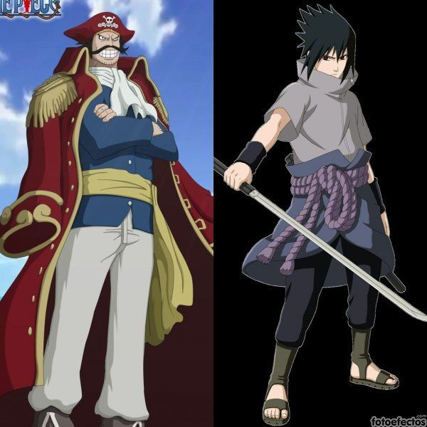Gold D Roger vs Sasuke