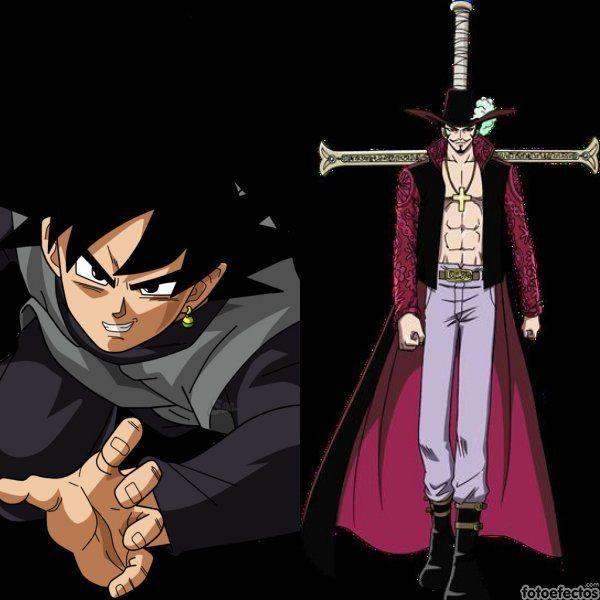 Black Goku vs Mihawk