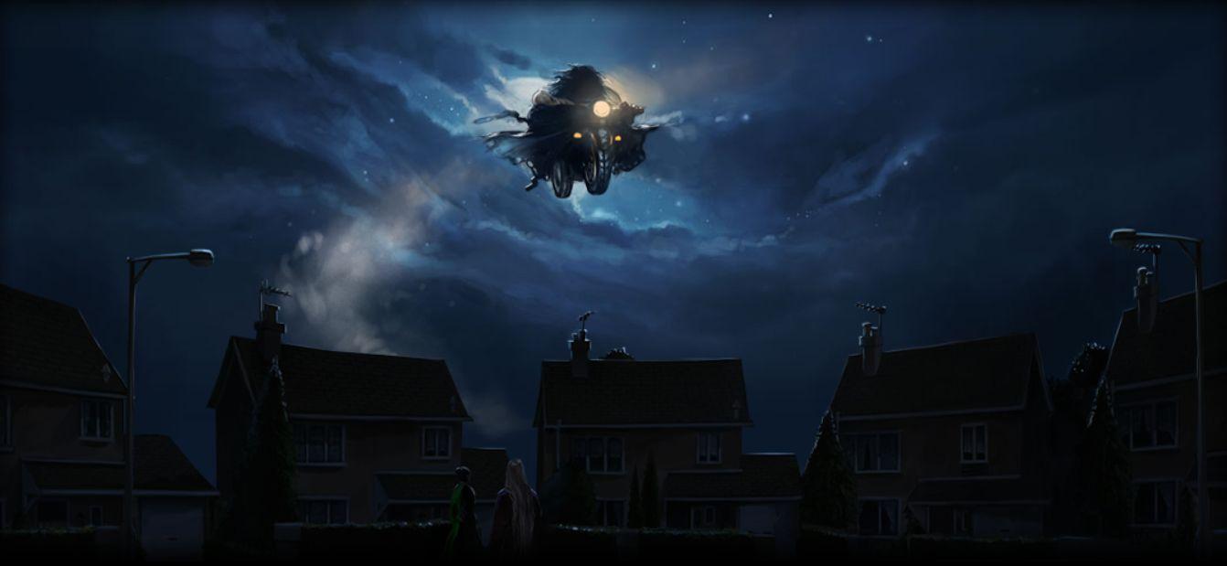 ¿De quién es la moto que utiliza Hagrid para llevar a Harry cuando era un bebé?