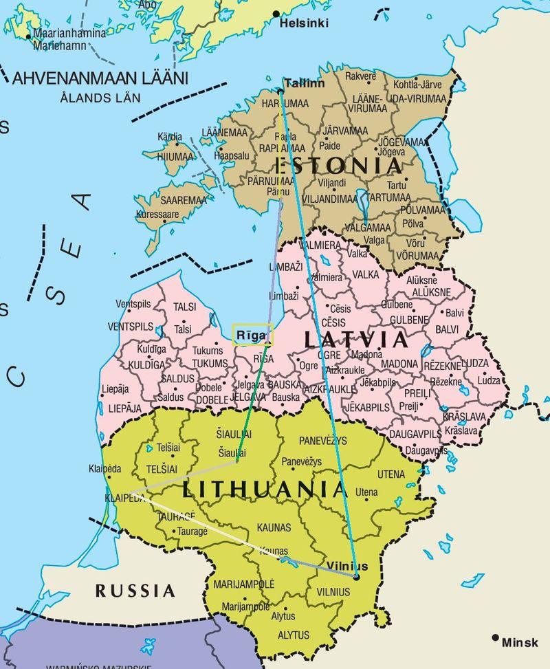Elige entre estos lugares de Lituania, Letonia y Estonia.