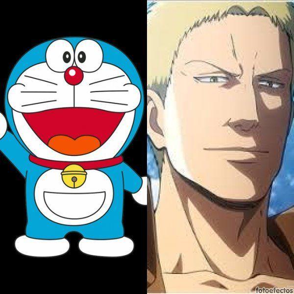 Doraemon vs Reiner Braun